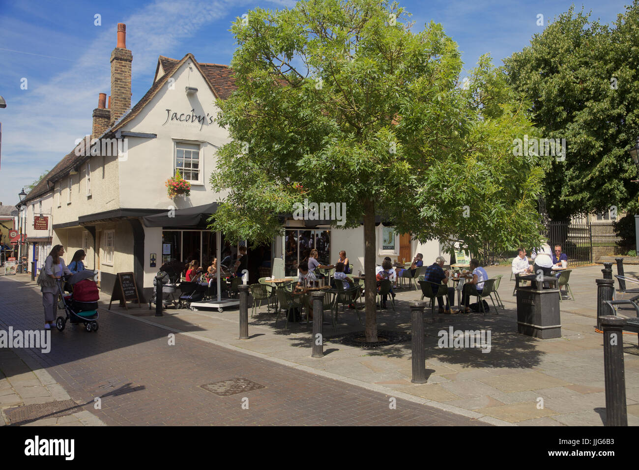 Jacobs's bar and restaurant in Ware, Hertfordshire, England - Stock Image