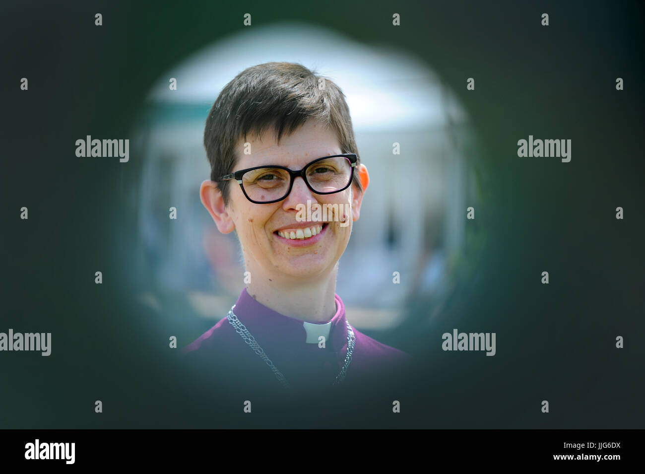 Picture shows The Bishop of Stockport, the Right Reverend Libby Lane,  first woman to be consecrated a bishop of - Stock Image