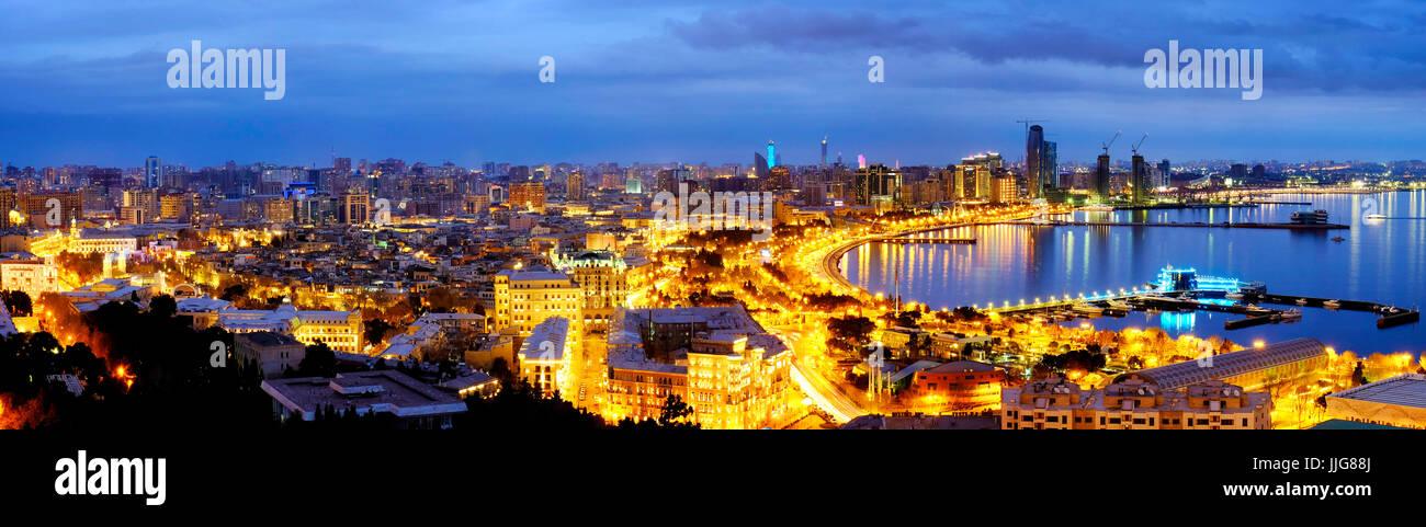 View of Baku, Azerbaijan - Stock Image