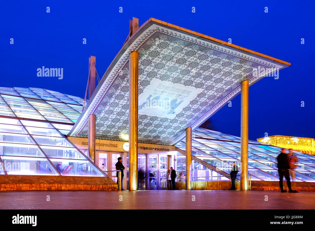 Icheri Sheher metro station, Baku Azerbaijan - Stock Image