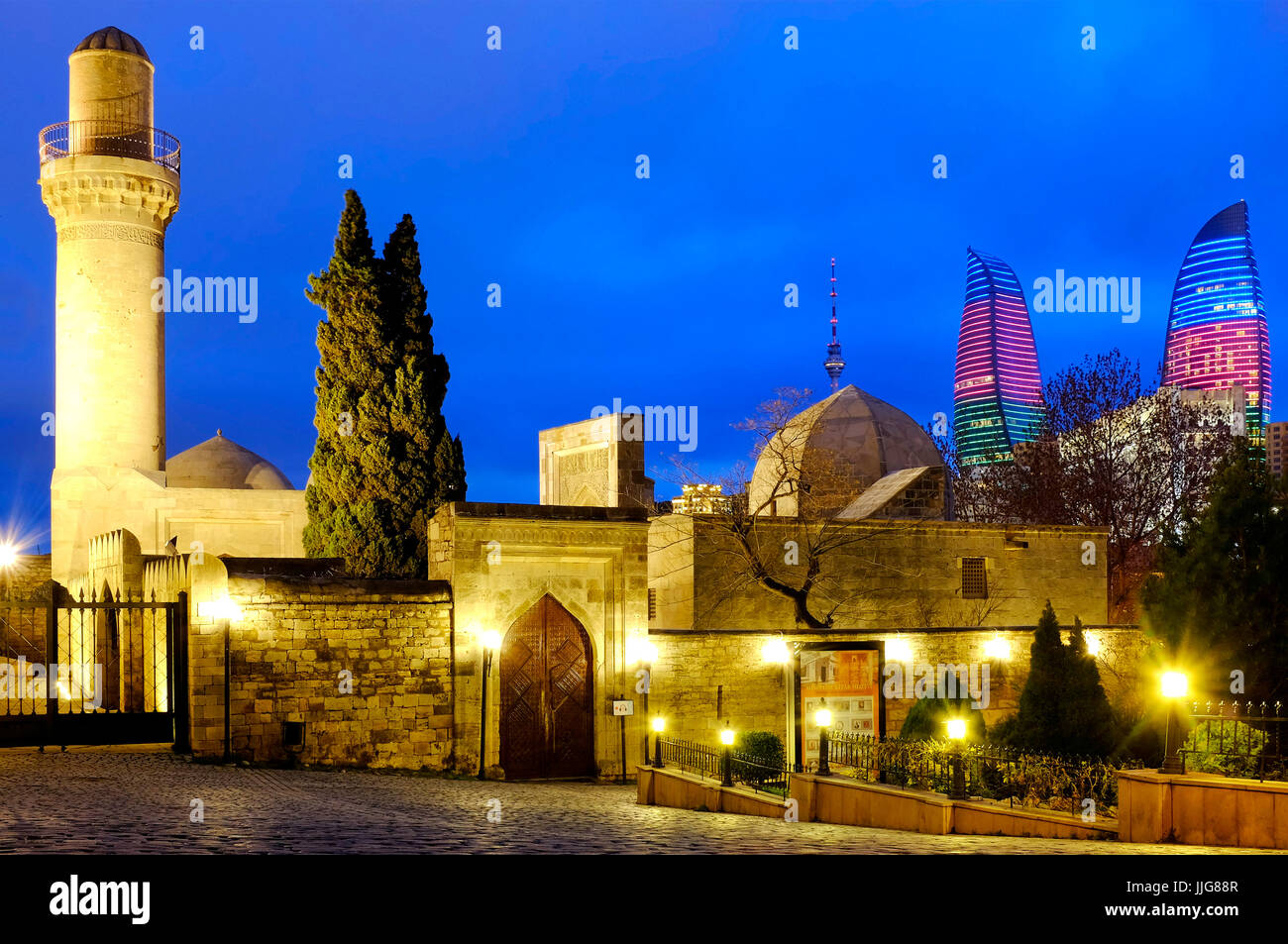 Palace of the Shirvanshahs, Baku, Azerbaijan - Stock Image