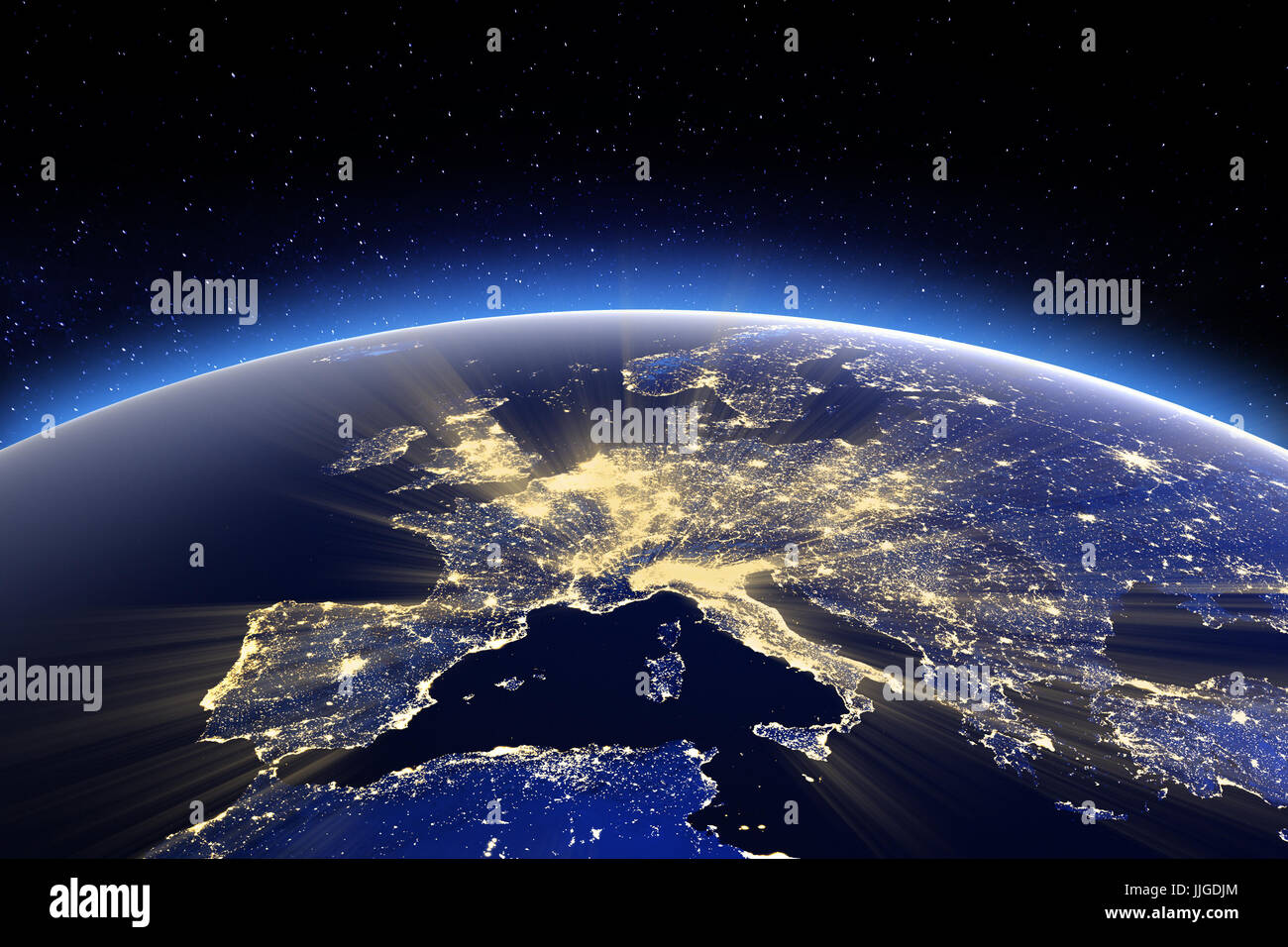 Europe. Elements of this image furnished by NASA - Stock Image