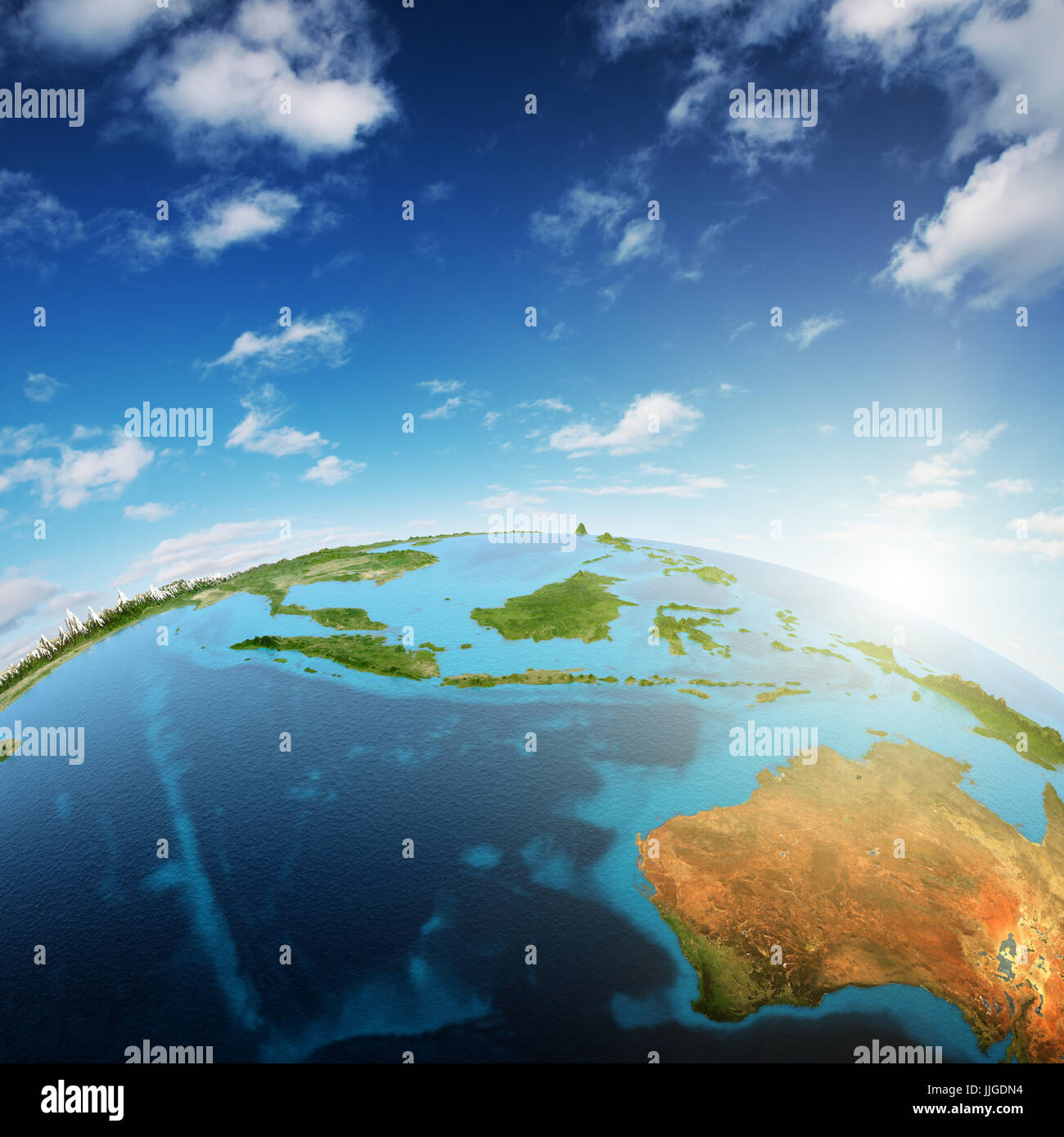 Australia and South-East Asia - Stock Image