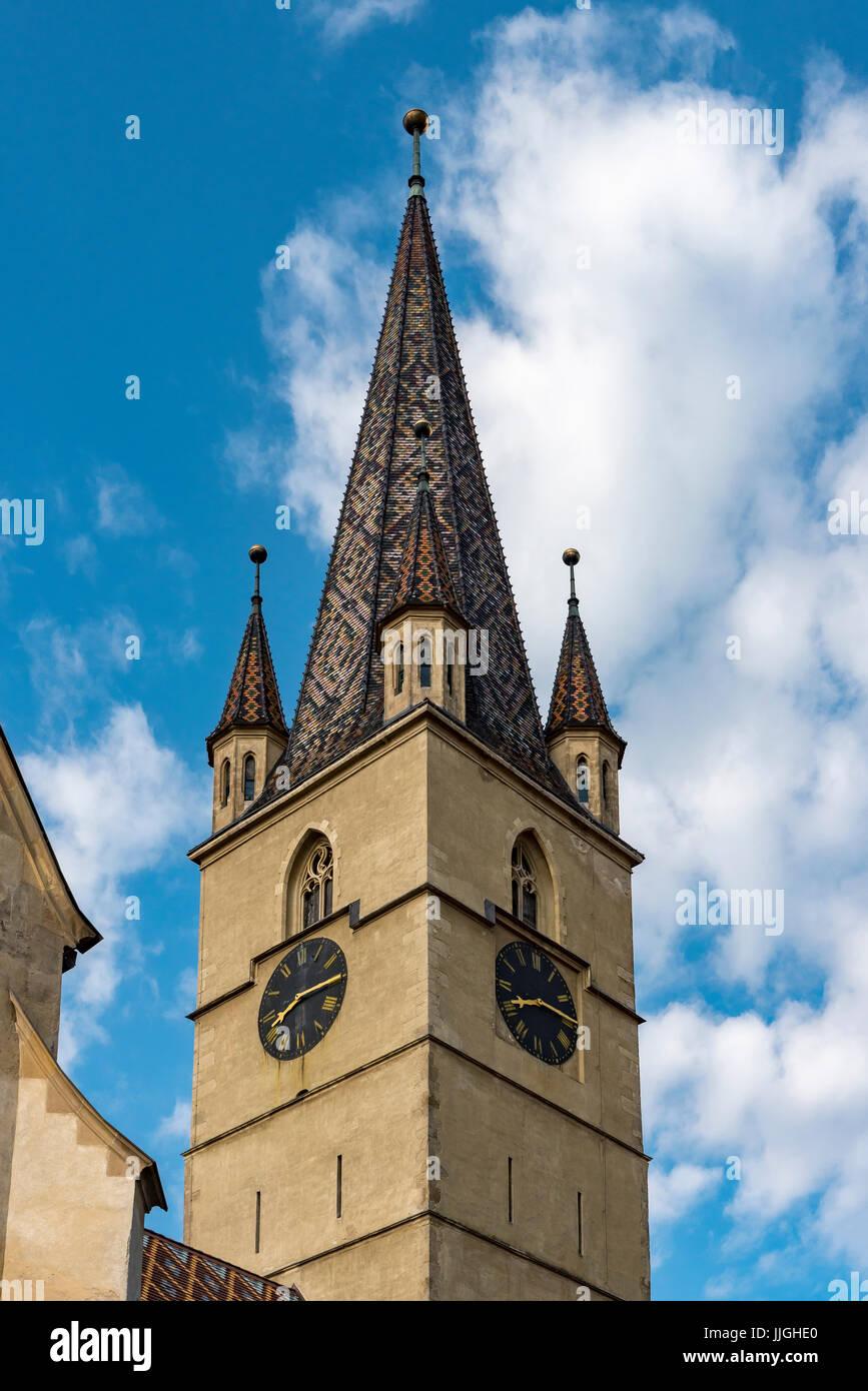 Sibiu Lutheran Cathedral, Romania - Stock Image