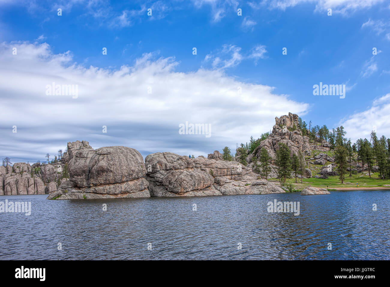 The rocky landscape surrounding the famous Sylvan Lake near Custer, South Dakota. - Stock Image