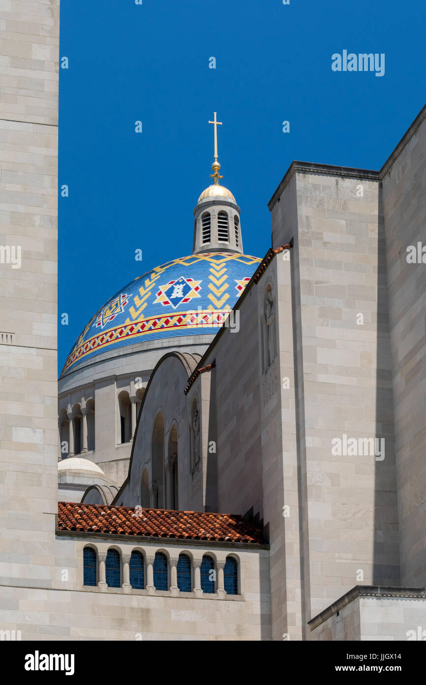 Washington, DC - The Basilica of the National Shrine of the Immaculate Conception. It is the largest Roman Catholic Stock Photo
