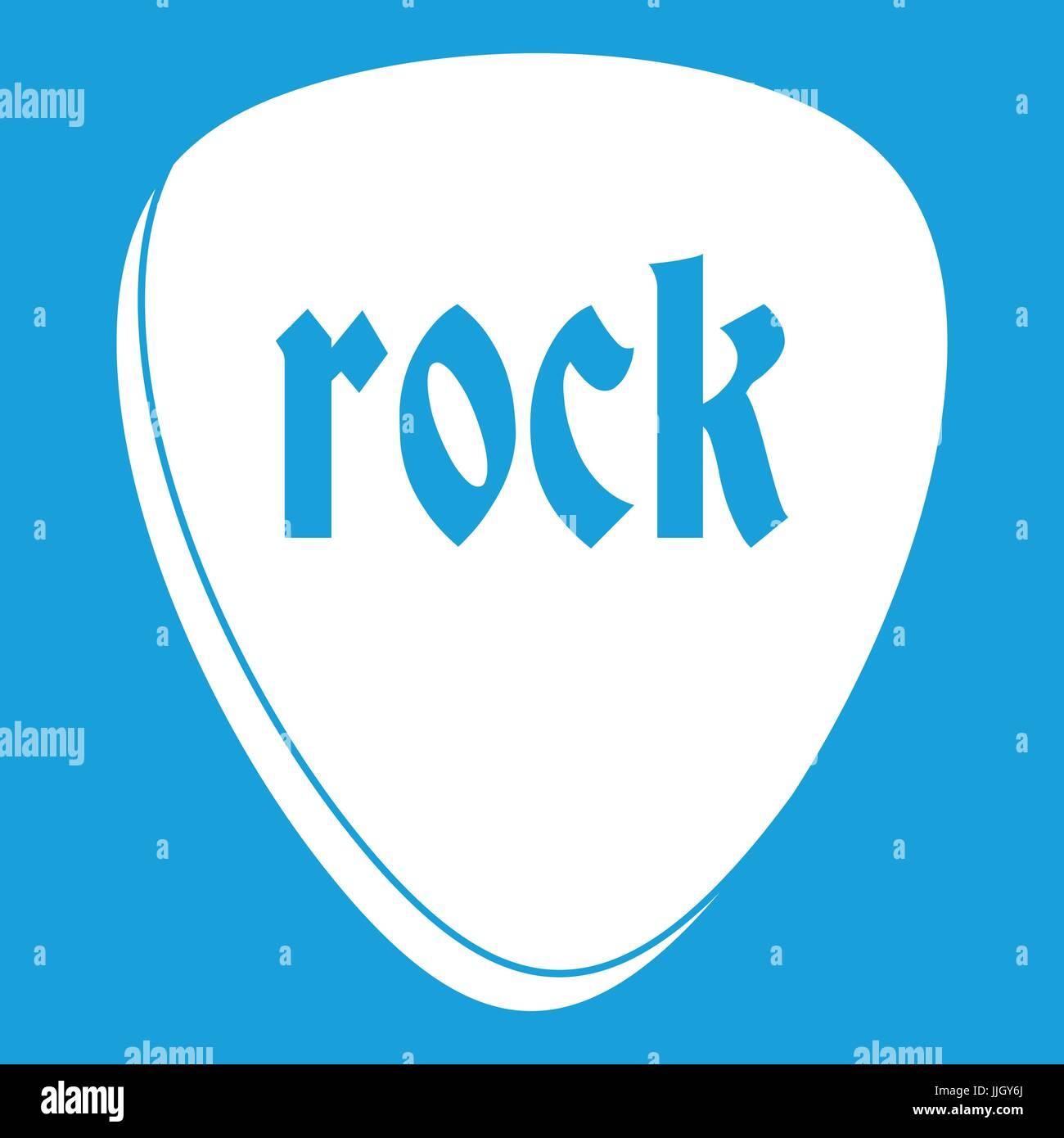 Rock stone icon white - Stock Image