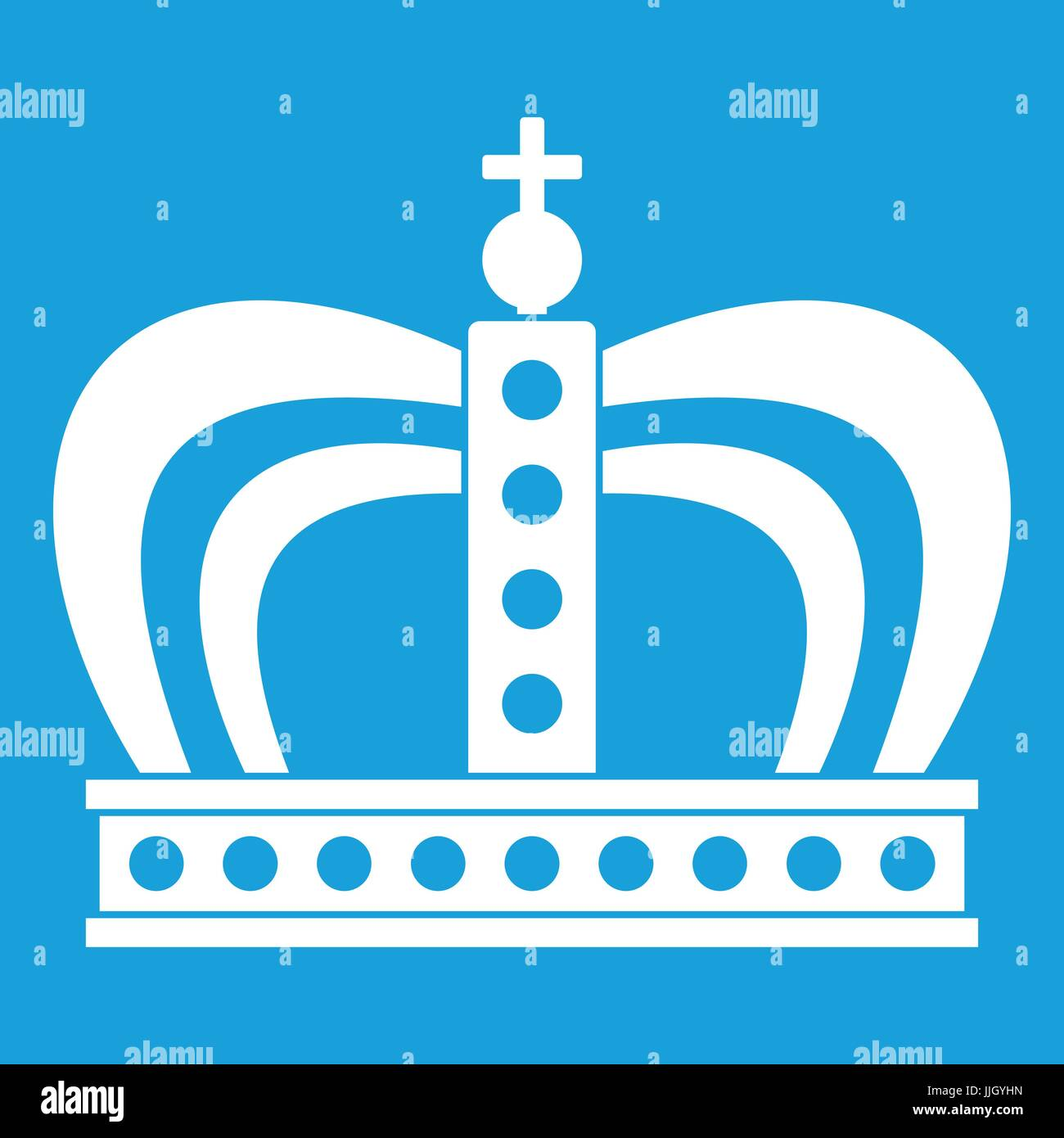 Monarchy crown icon white - Stock Vector