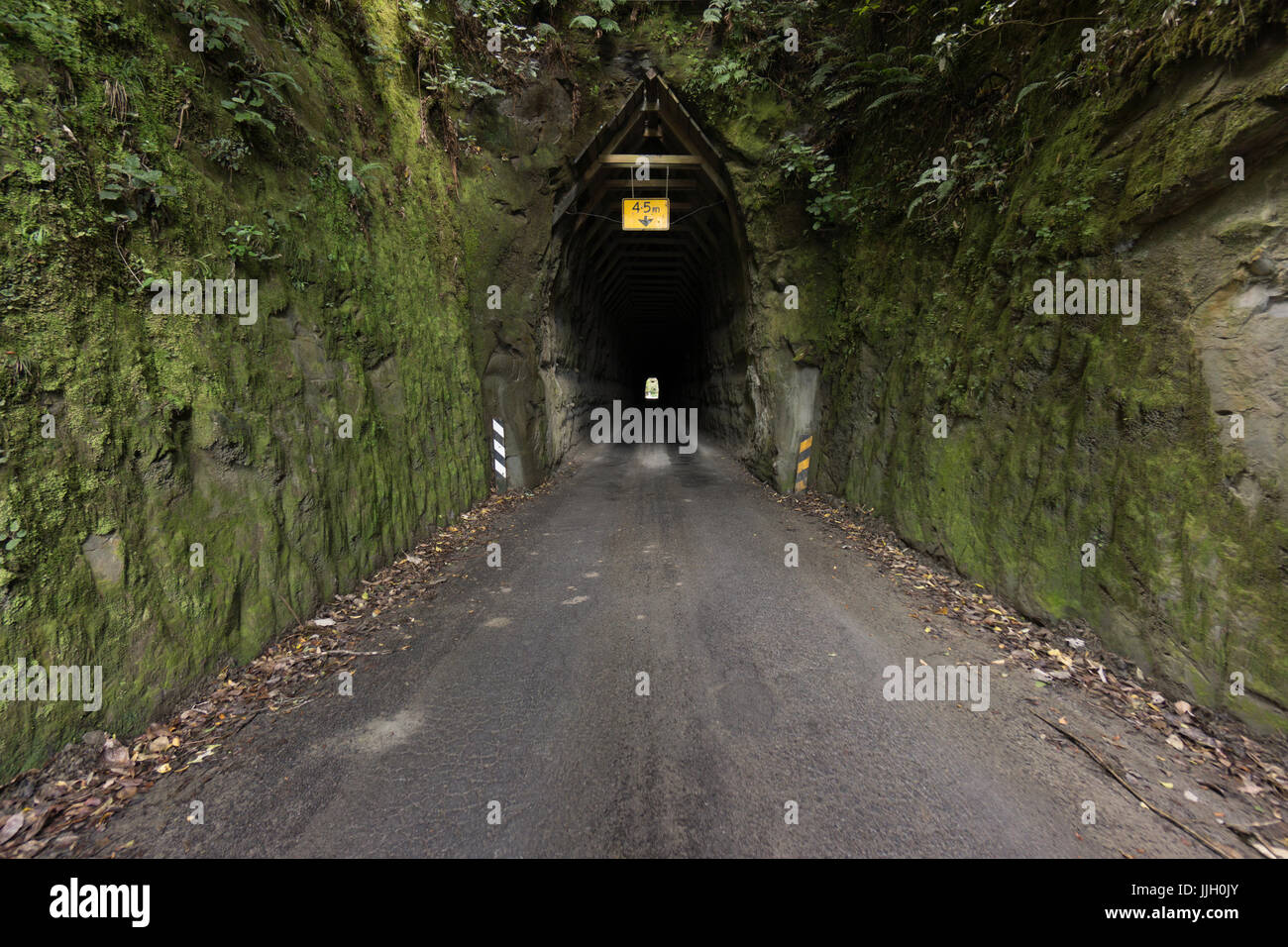 Moki Tunnel, Forgotten World Highway, Whangamomona, New Zealand - Stock Image