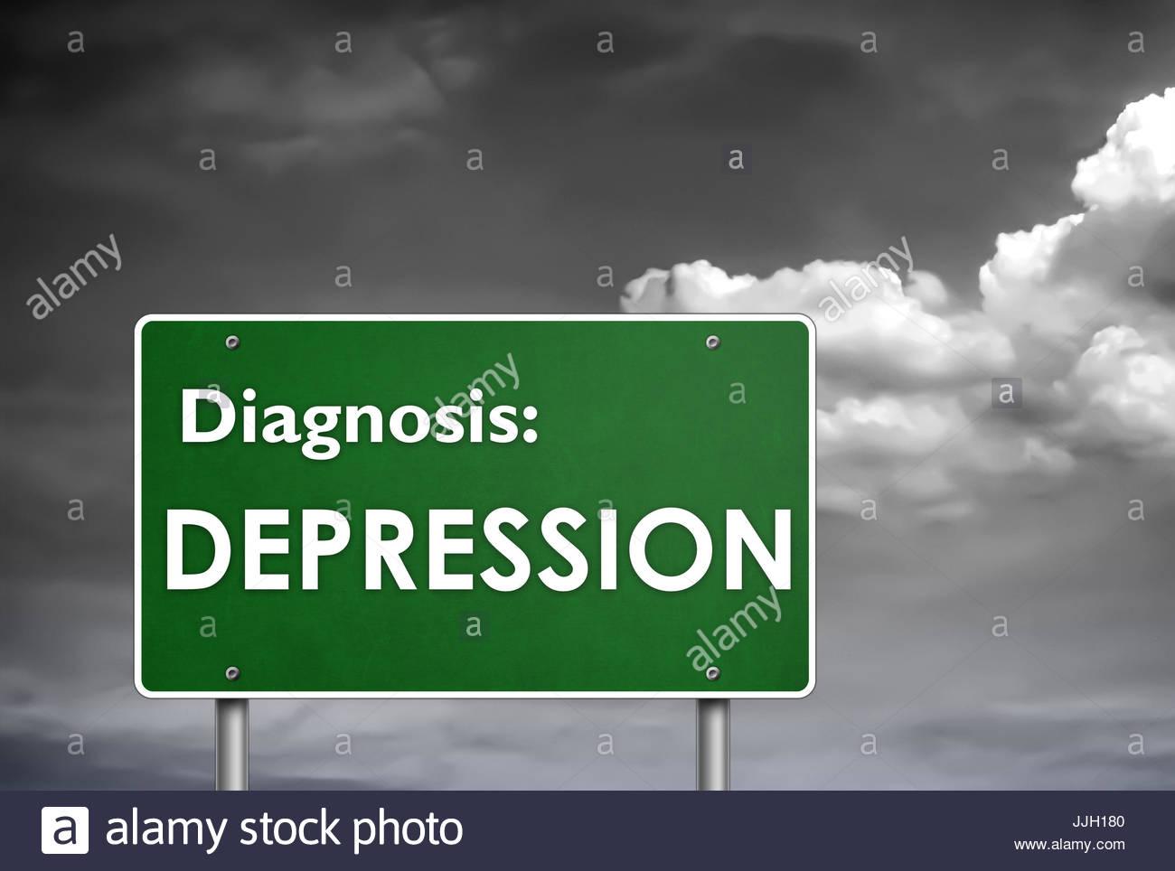Diagnosis Depression - Stock Image
