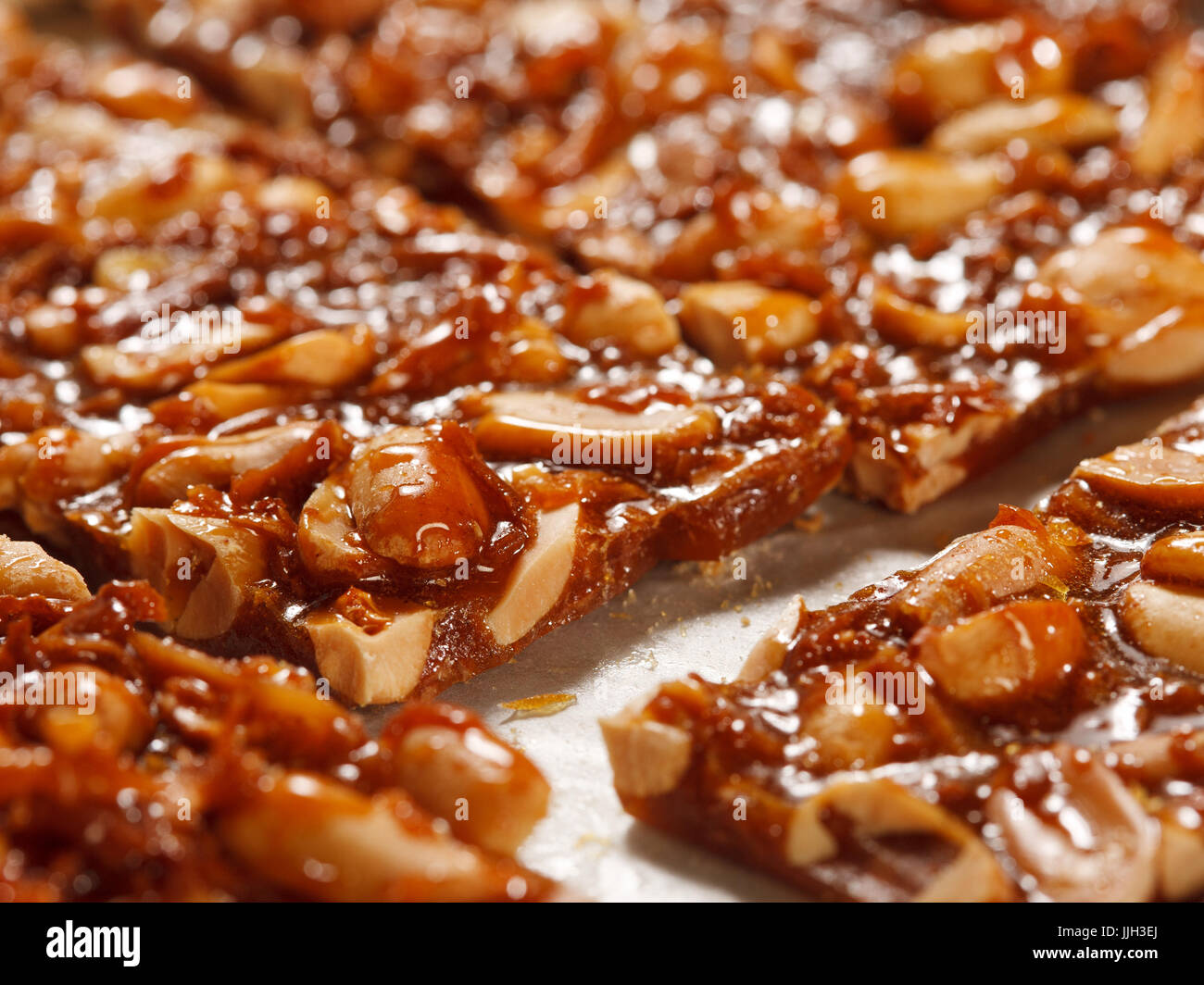 peanut brittle - Stock Image