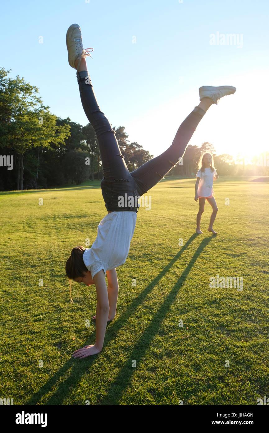 Teen girls handstands #10