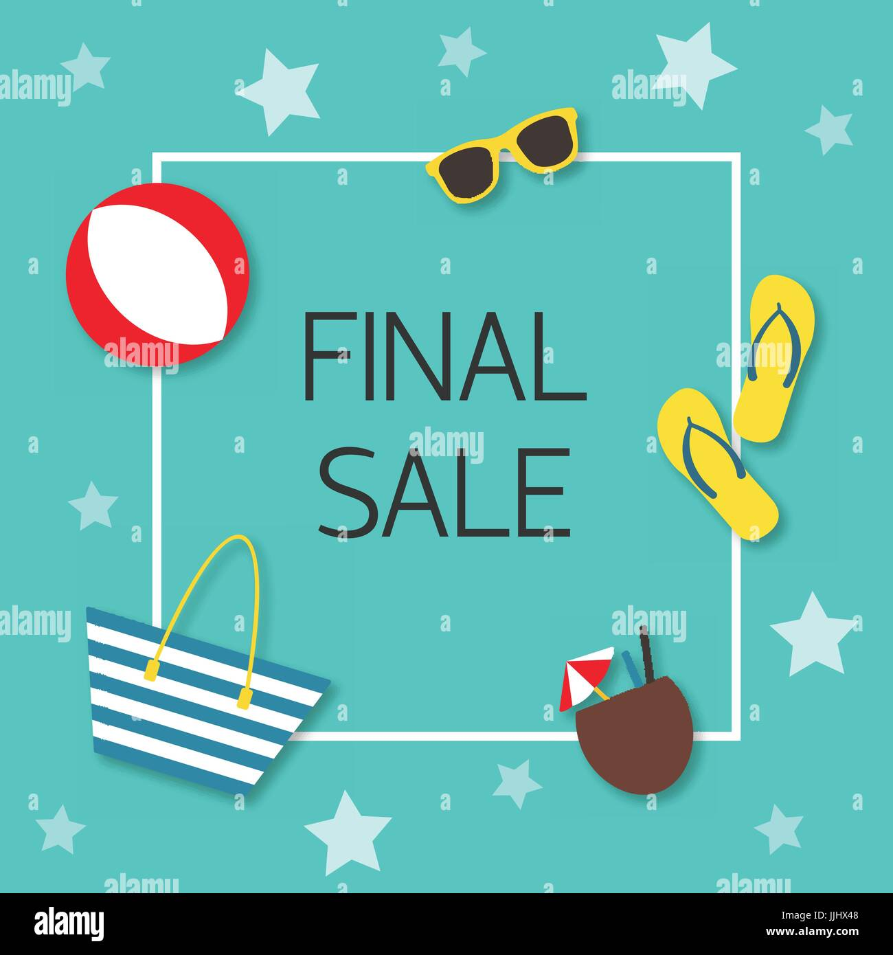 Final sale Vector illustration Trendy design template for the online store, shop, poster and banner The inscription - Stock Vector