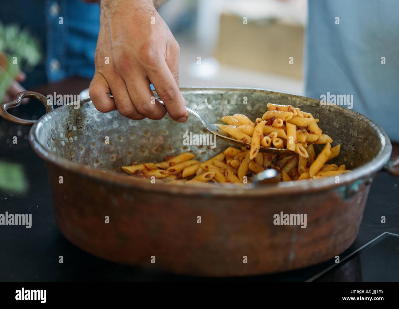 Italy, Tuscany, Marche, Winery, Italian food - Stock Image