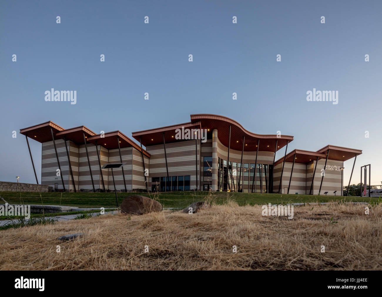 The Hanford Reach Interpretive Center, also known as The Reach Museum, Richland, Washington. - Stock Image
