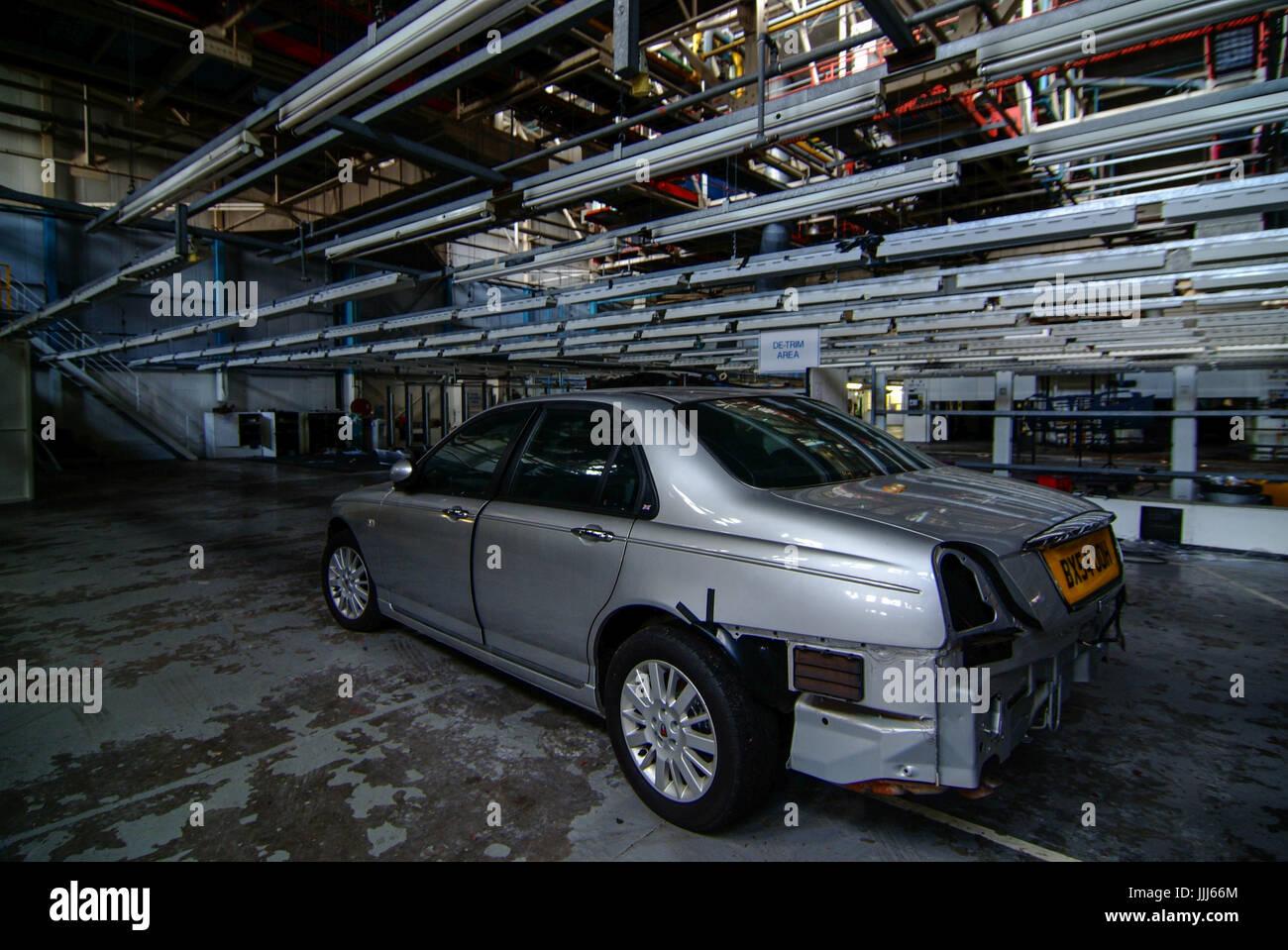Abandoned car factory Longbridge MG Rover