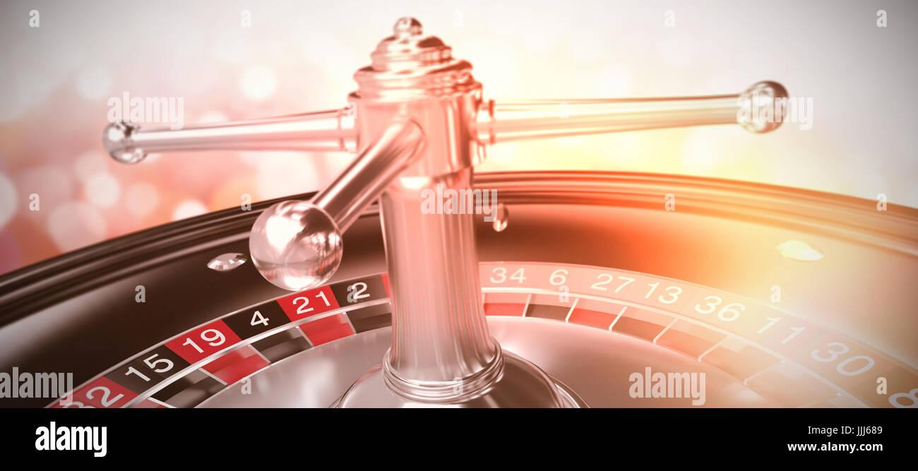 Composite image of 3d image of roulette wheel - Stock Image
