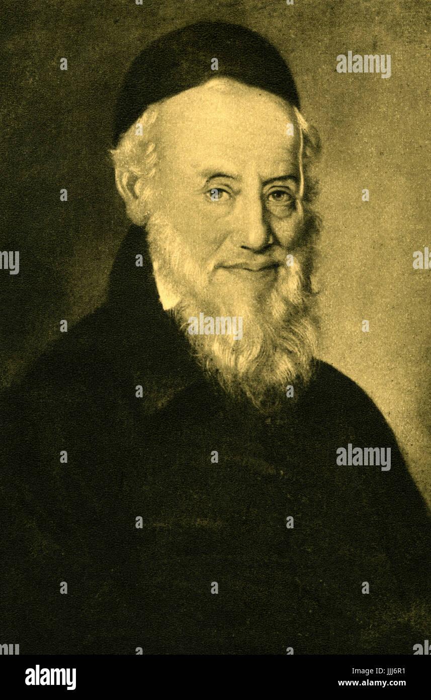 Choron Aron, Rabbi of Arad  1766 -1844. Pioneer or Reform Judaism in Hungary. - Stock Image