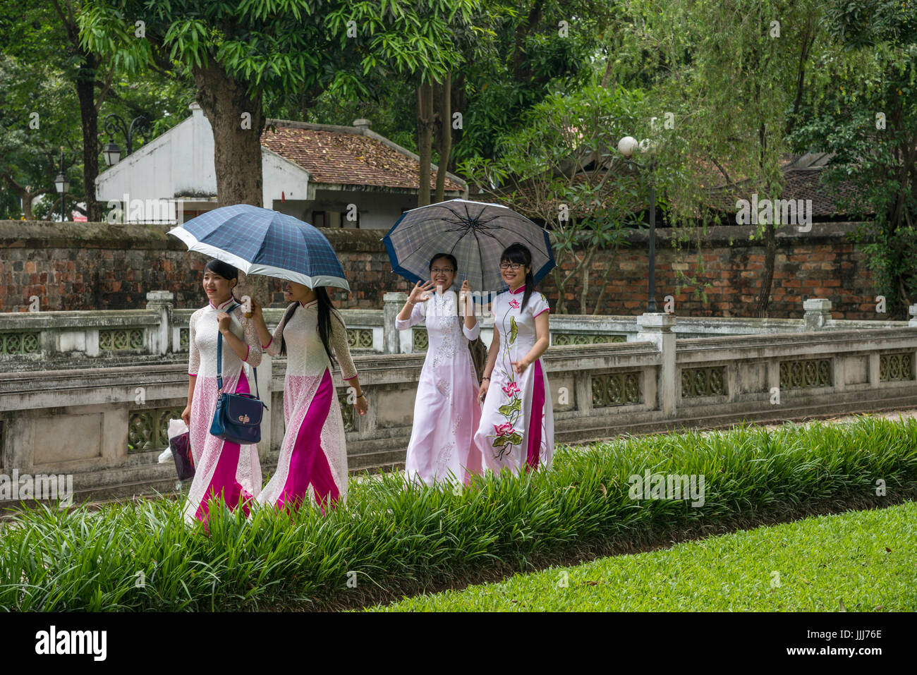 Temple of literature Hanoi Vietnam Stock Photo