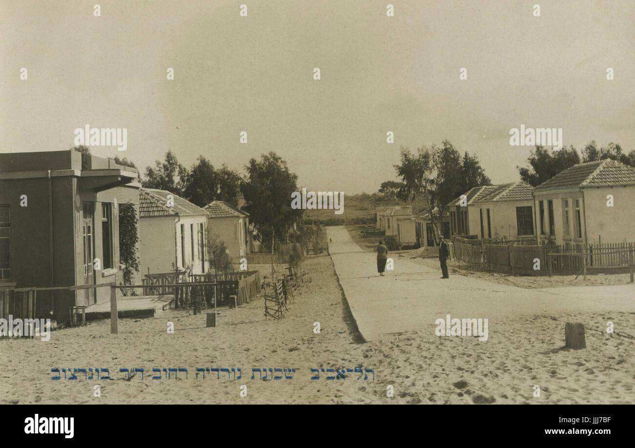 Junction of Nordau and Bograshov Streets, Tel Aviv, 1920s - Stock Image