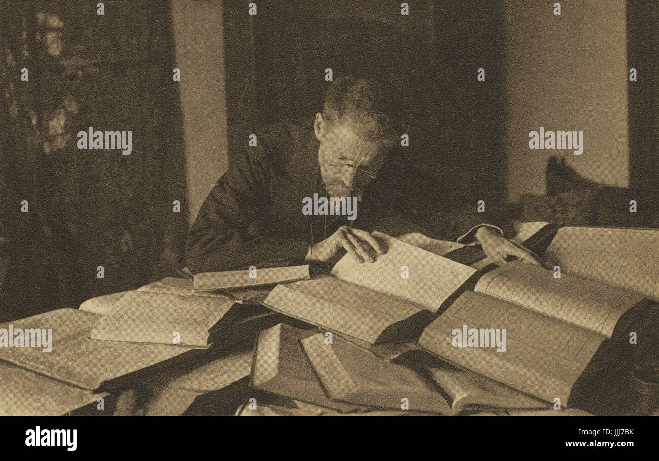 Eliezer Ben-Yehuda, lexicographer and newspaper editor, driving force behind revival of the Hebrew language. Shown - Stock Image