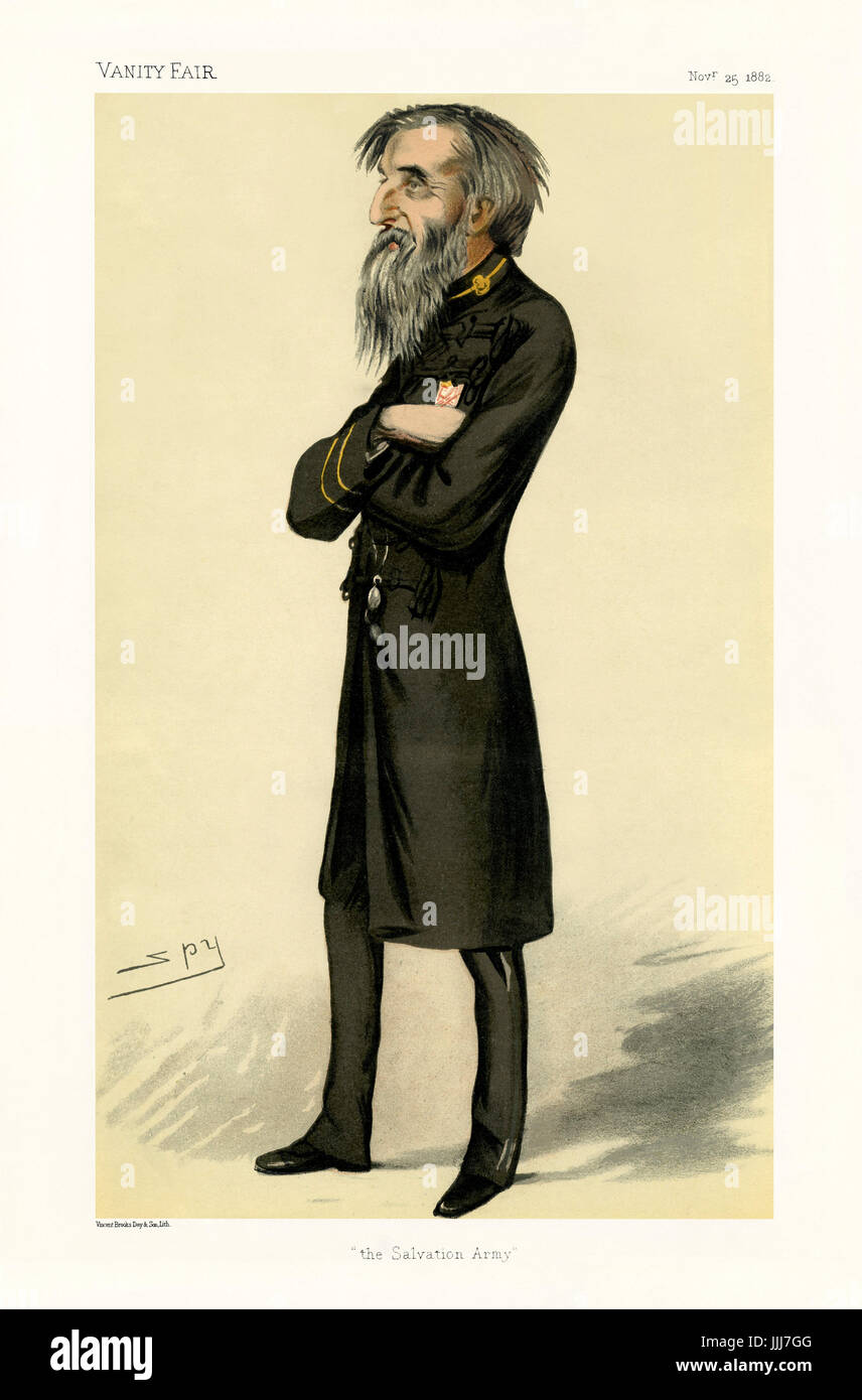 William Booth, first 'General' of the Salvation Army - portrait standing. Vanity Fair caricature by Spy - Stock Image