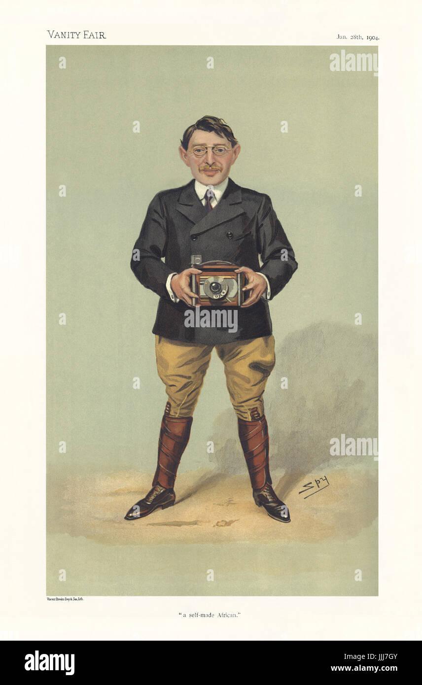 Charles Sydney Goldmann - portrait holding camera Vanity Fair caricature by Spy (real name Sir Leslie Matthew Ward - Stock Image