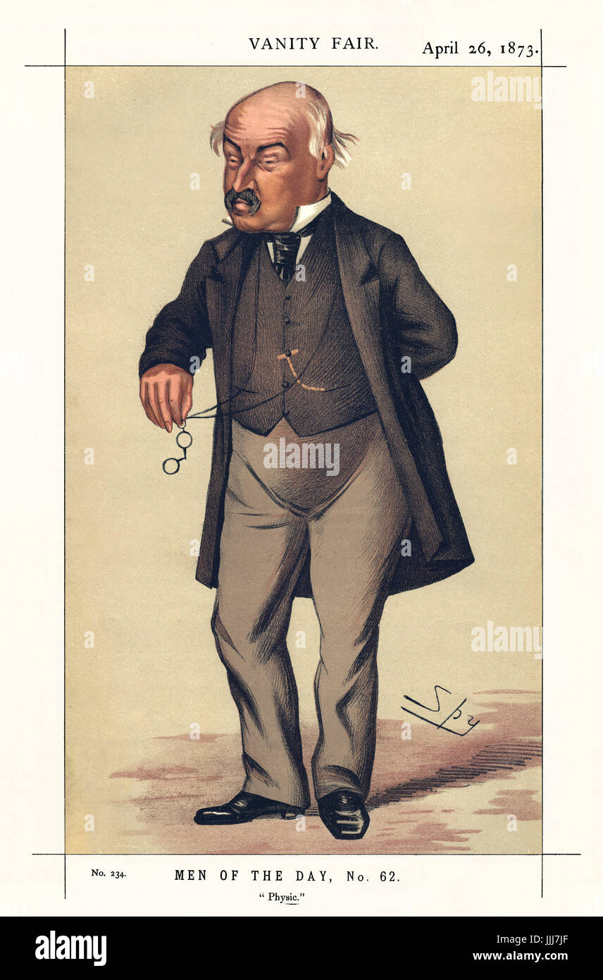 Sir William Jenner - portrait standing. Vanity Fair caricature by Spy (real name Sir Leslie Matthew Ward, 21 November - Stock Image