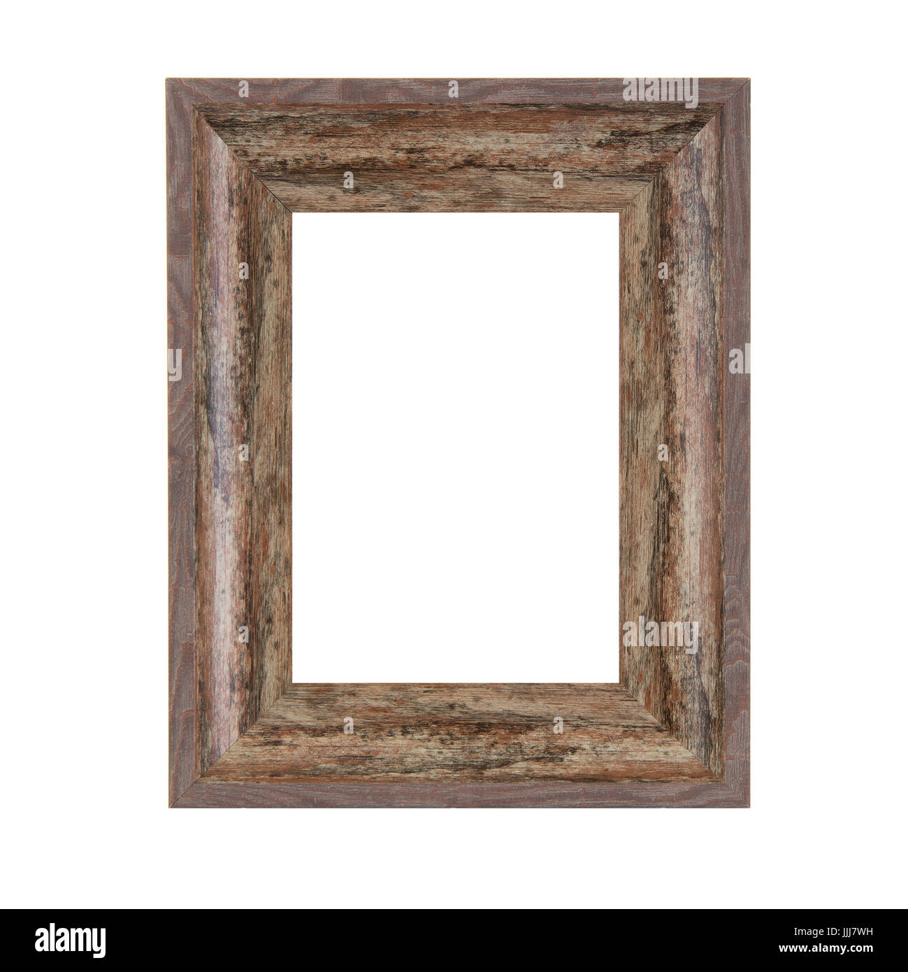 Rustic Vintage Wooden Frame on a white background Stock Photo ...