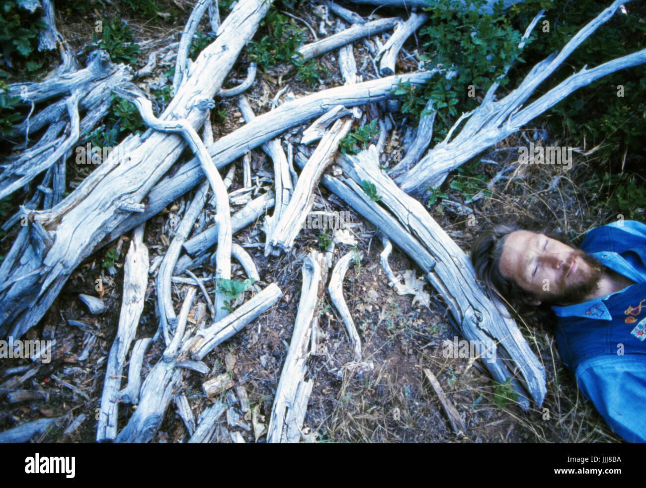 Gary Snyder, in the Sierra Nevada, 1969 - Stock Image