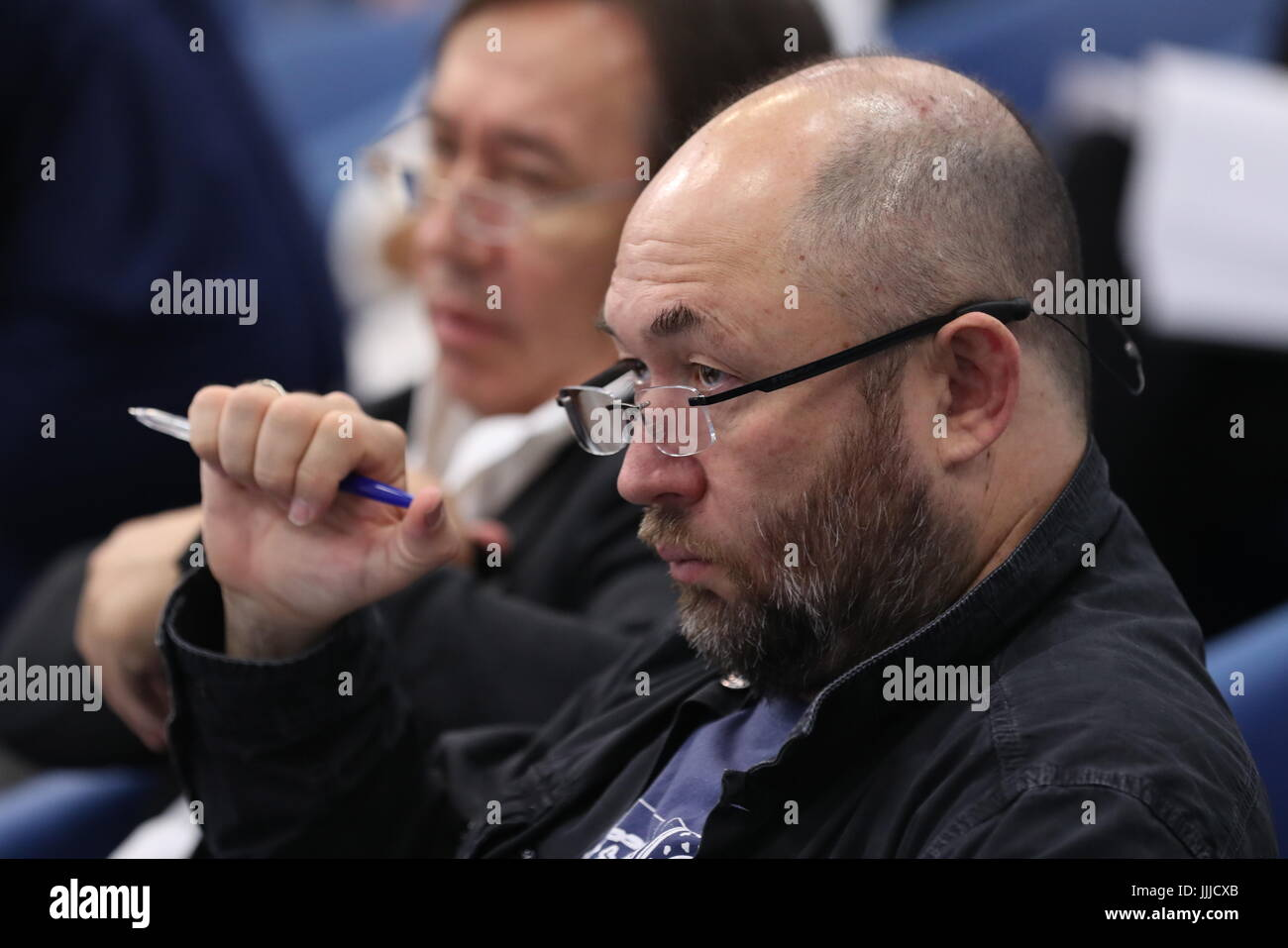 Moscow, Russia. 20th July, 2017. Film director and producer Timur Bekmambetov during a presentational event for - Stock Image
