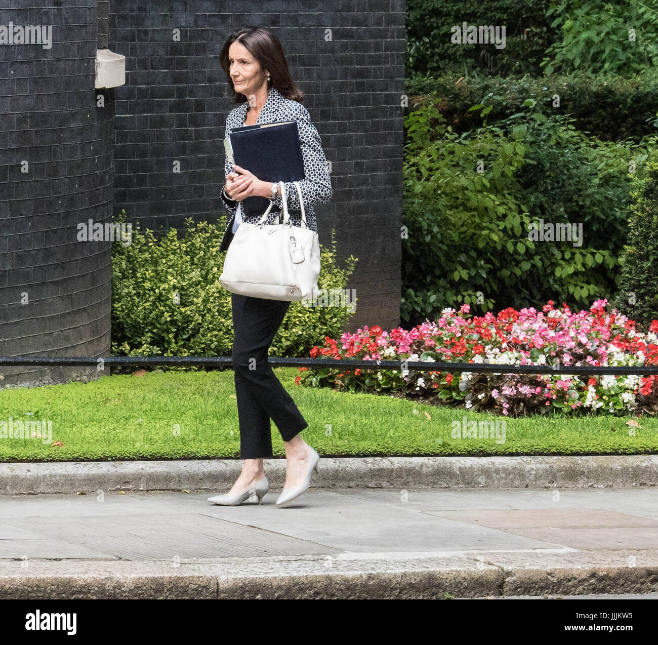 London 20th July 2017 Carolyn Fairbairn from the Confederation of British Industry, arrives at 10 Downing Street - Stock Image