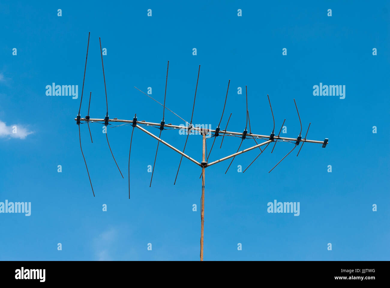 Old Tv Antenna Stock Photos Images Alamy Wire Diagram On Roof Of House Latin America Image