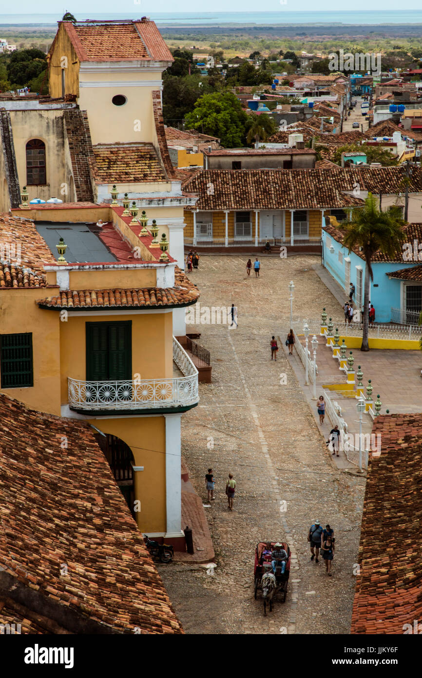 View from the bell tower of the CONVENT DE SAN FRANCISCO ASIS now the MUSEO NACIONAL DE LA LUCHA CONTRA BANDIDOS - Stock Image