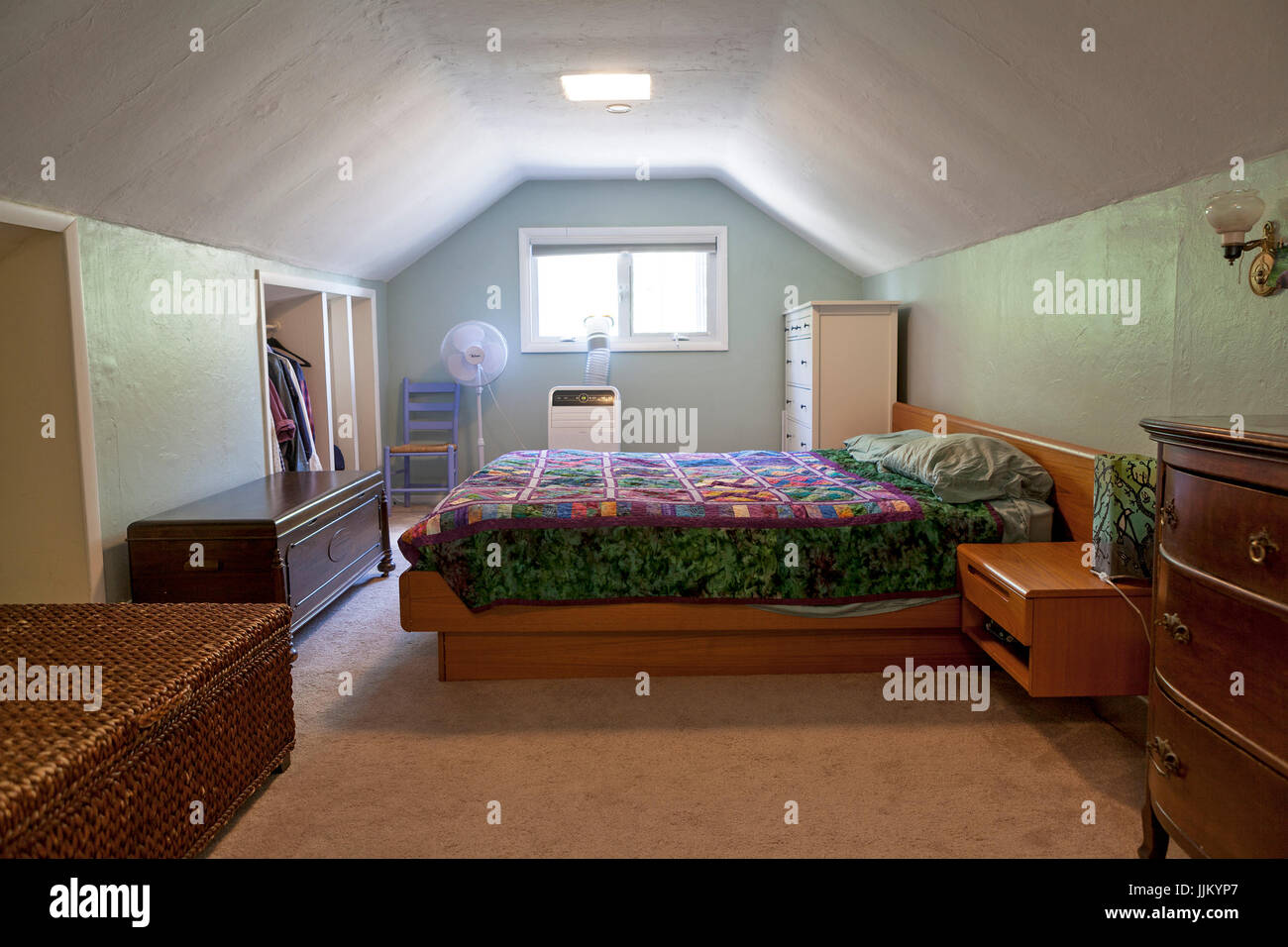 A single family bungalow in Minneapolis built in 1922. Stock Photo