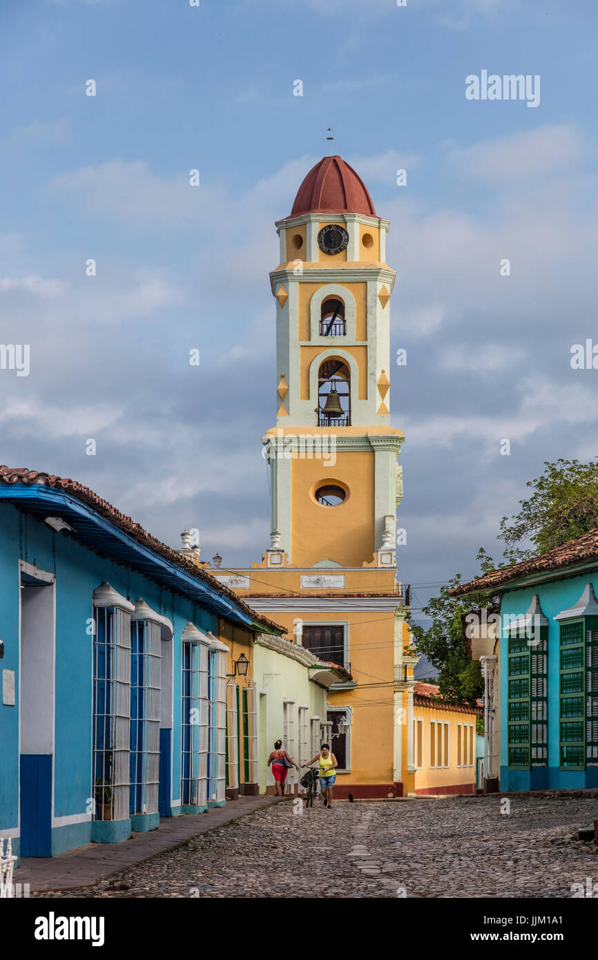 The former CONVENT DE SAN FRANCISCO ASIS is now the MUSEO NACIONAL DE LA LUCHA CONTRA BANDIDOS with its bell tower - Stock Image