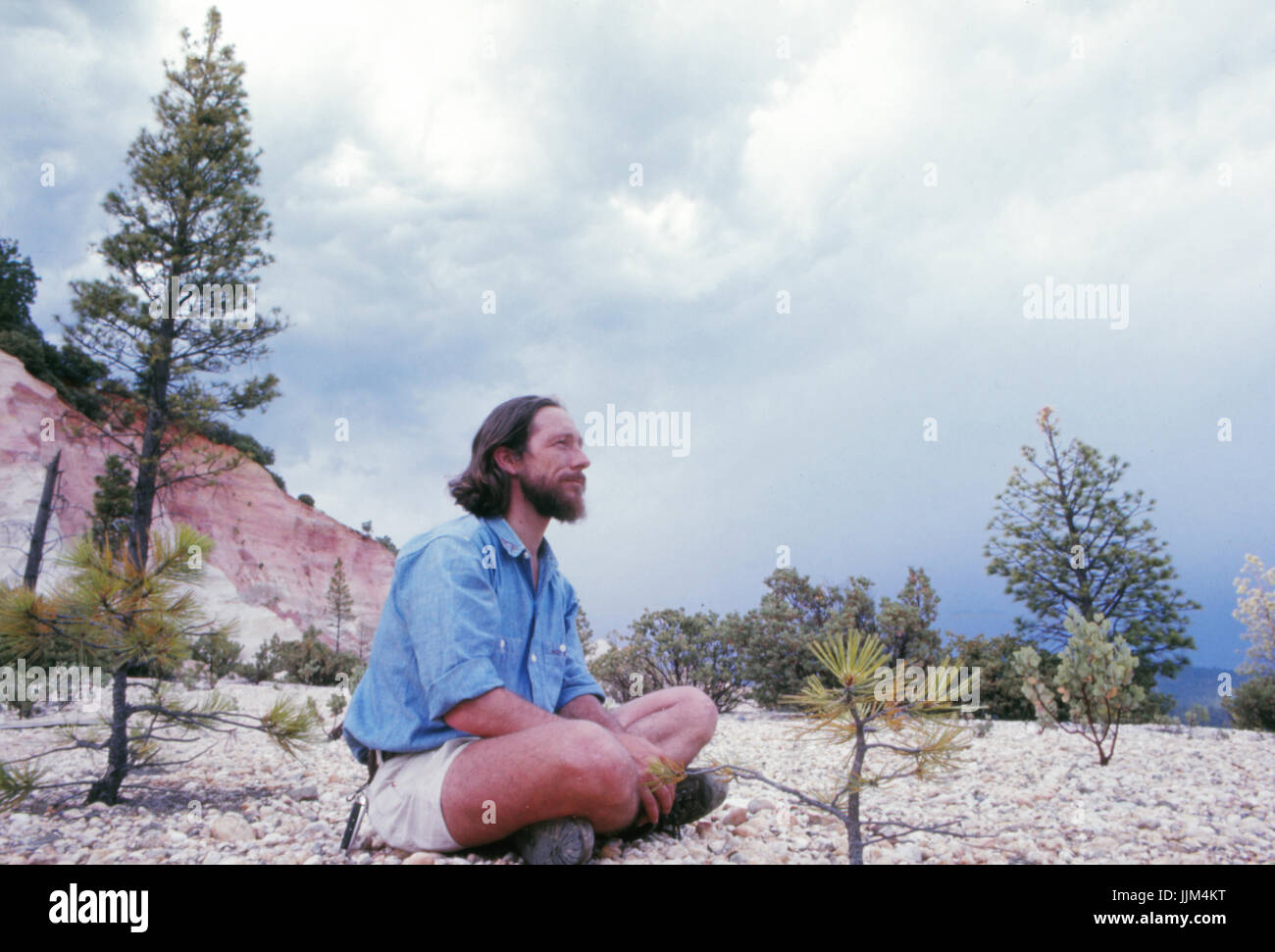 Gary Snyder, in the Sierra Nevada, 1969 - Stock Image