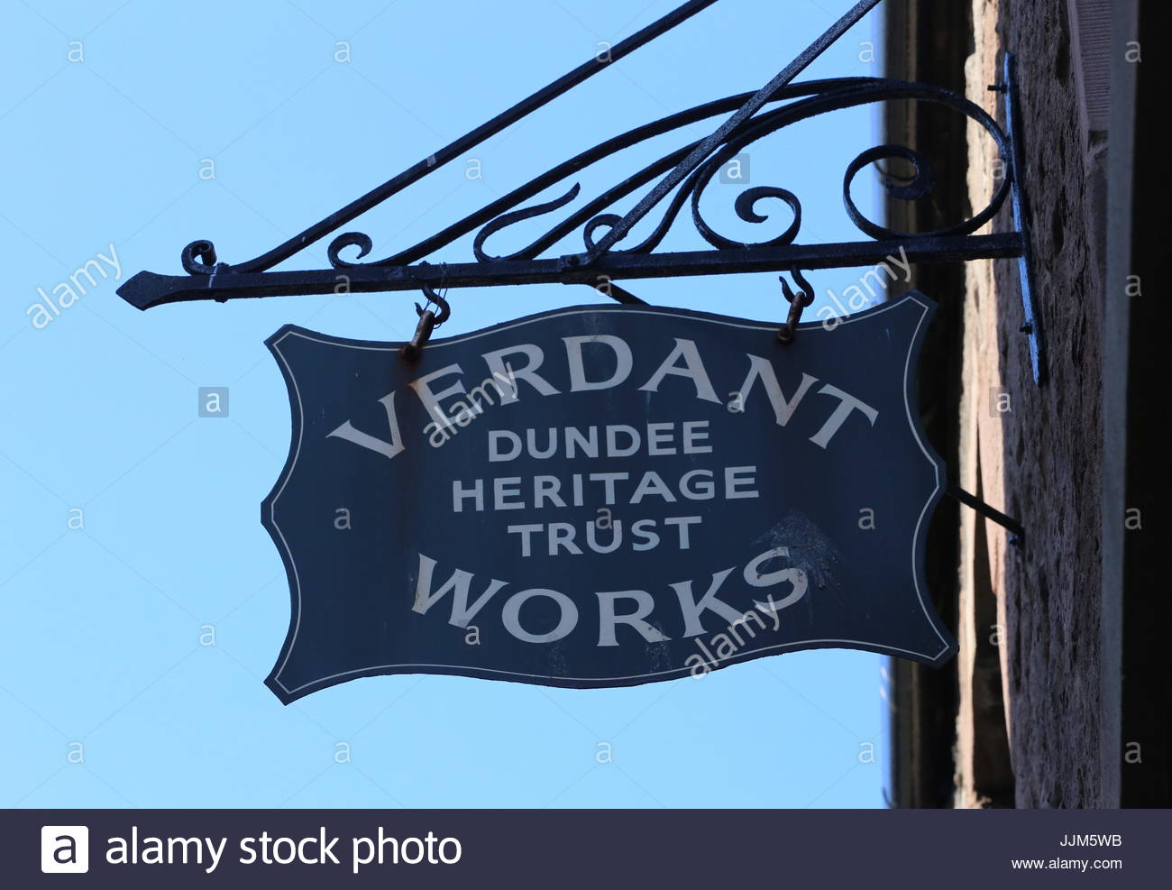 Sign at Verdant Works Jute Mill Museum Dundee Scotland  July 2017 - Stock Image