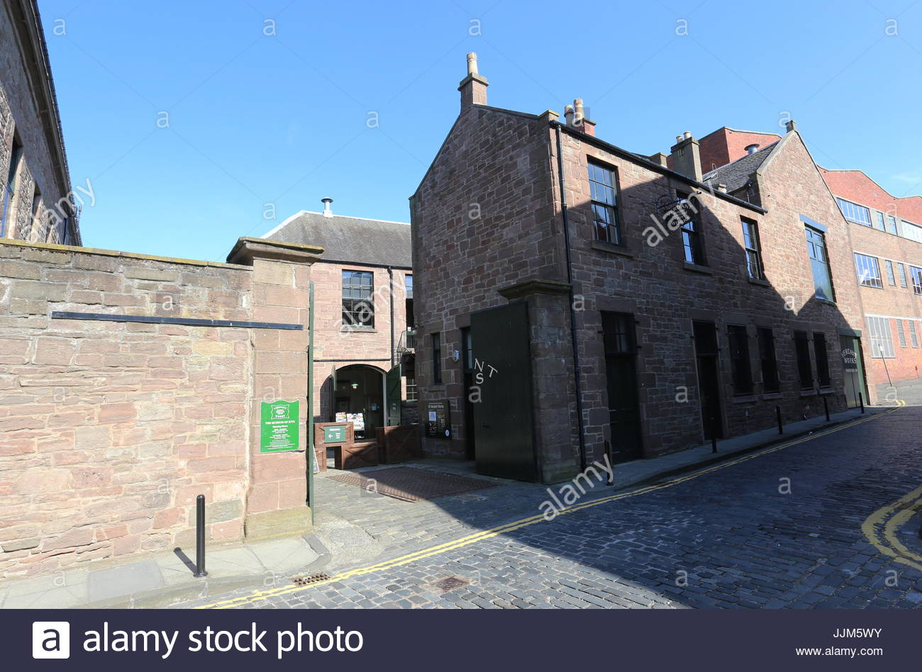 Exterior of Verdant Works Jute Mill Museum Dundee Scotland  July 2017 - Stock Image