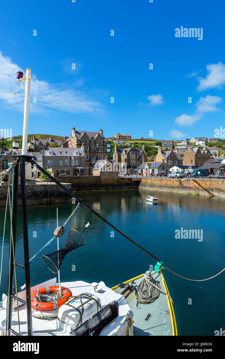 The harbour in Stromness, Mainland, Orkney, Orkney Islands, Scotland, UK - Stock Image