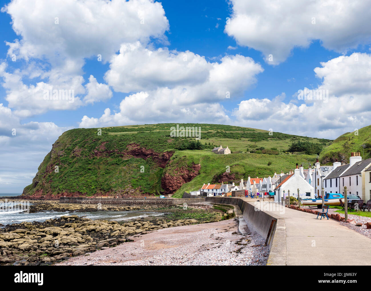 The small fishing village of Pennan, Aberdeenshire, Scotland, UK. The village was a location for the 1983 film Local - Stock Image