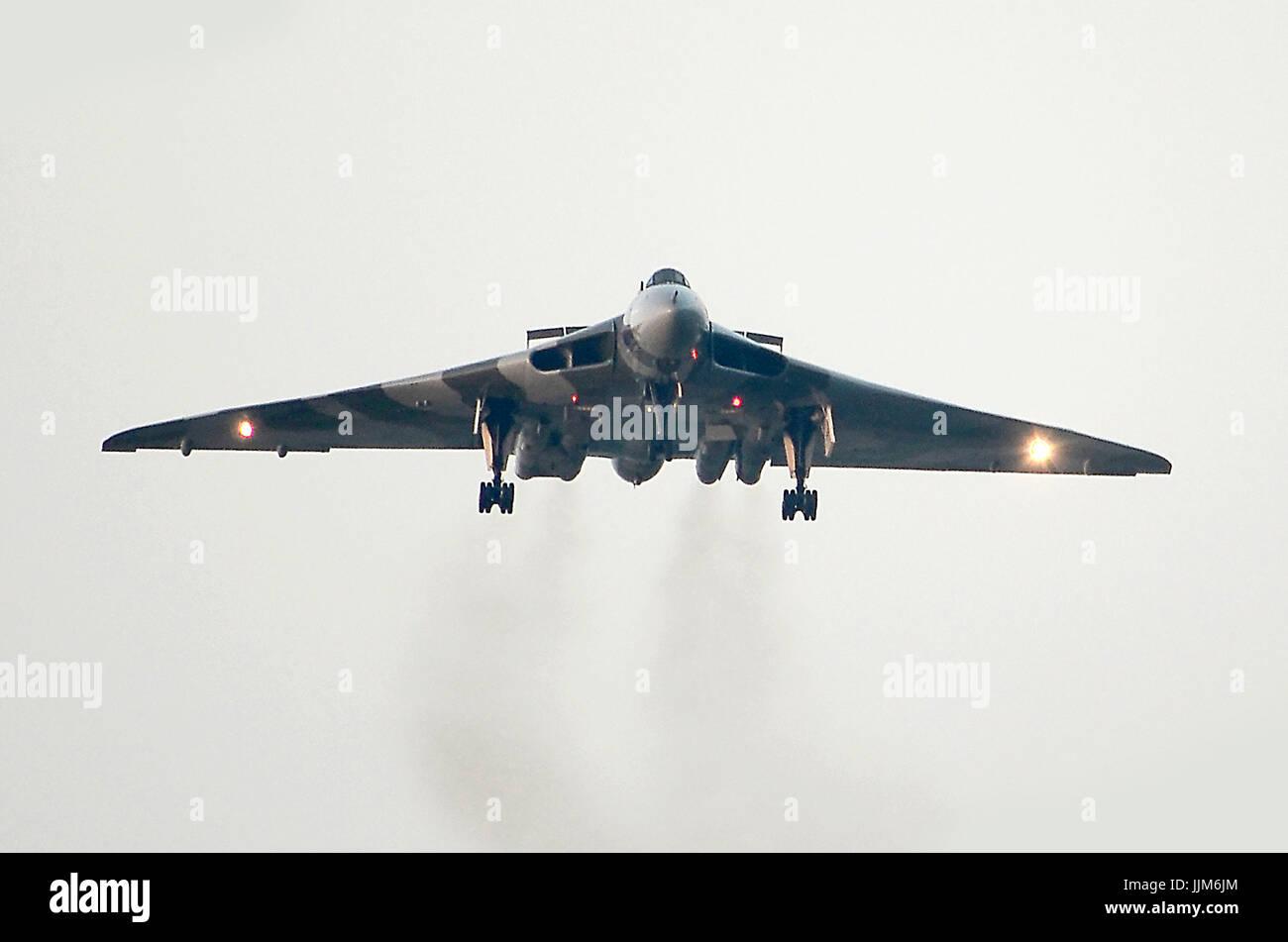 V-bomber, British cold war nuclear deterrent, Avro Vulcan - Stock Image