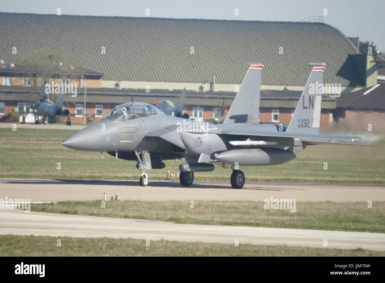 F-15 military American twin-engine, all-weather tactical fighter, Syrian conflict Stock Photo