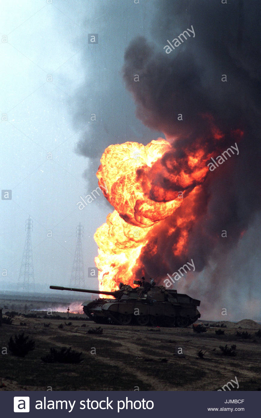 File photo dated 16/01/1991 of Operation Desert Storm launched with the allied military operation led by the United - Stock Image