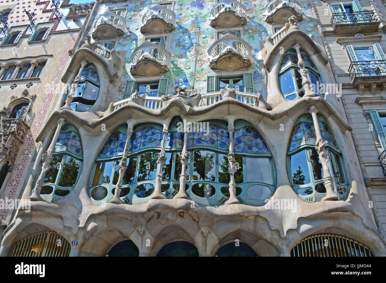 Casa Batillo Antonio Gaudi House Barcelona Spain Stock