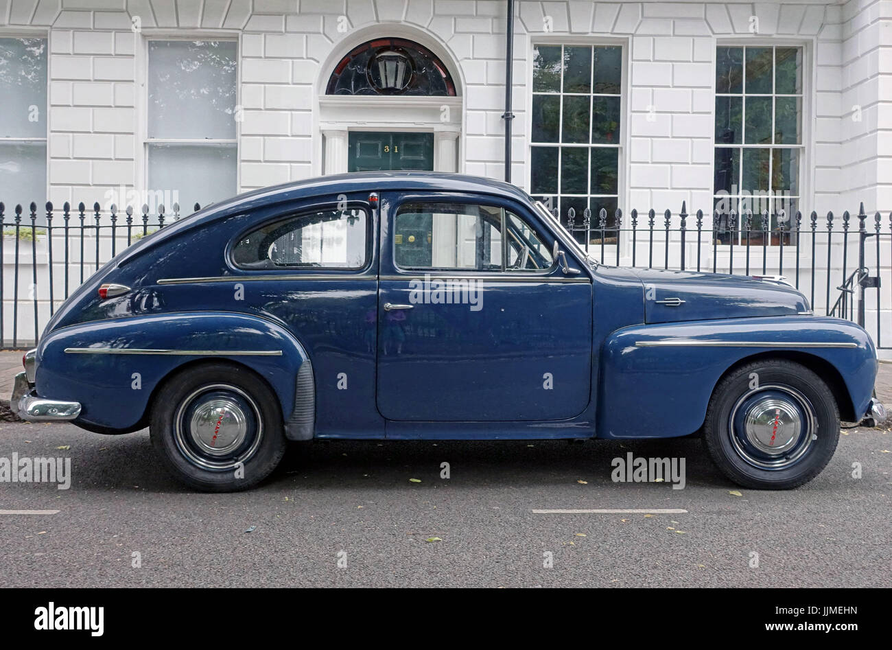 Classic Volvo PV544 car from 1950s - 1960s, London - Stock Image