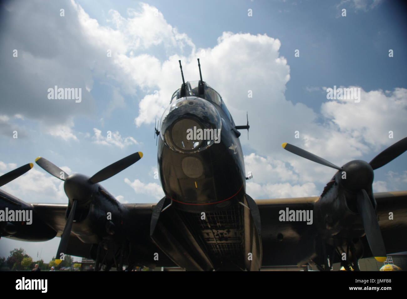 Avro Lancaster bomber, world war two heavy bomber - Stock Image