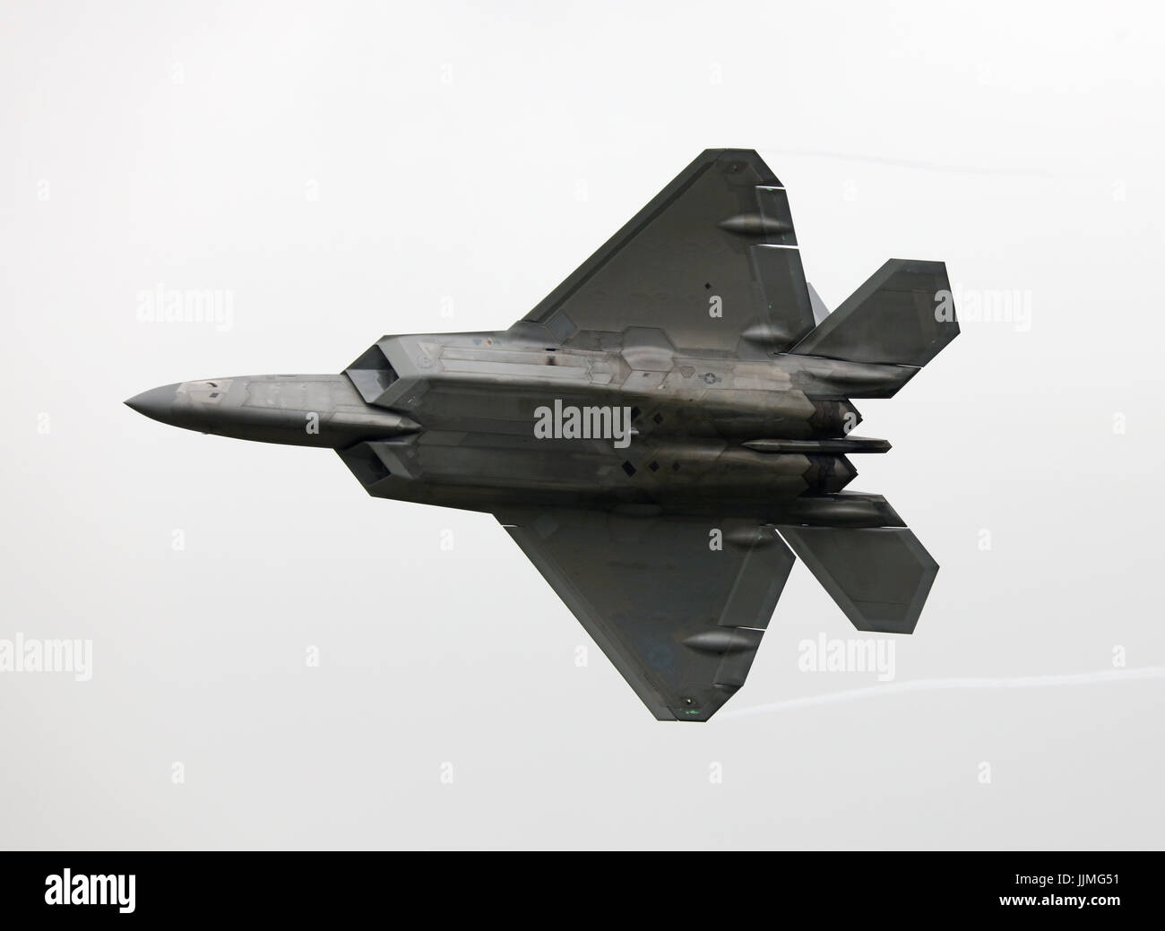 lockheed martin f22 raptor with p51d mustang - Stock Image