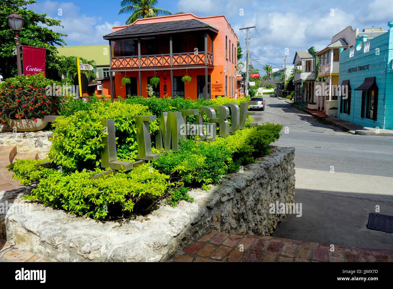 Limegrove Lifestyle Centre, Holetown, Barbados, West Indies - Stock Image