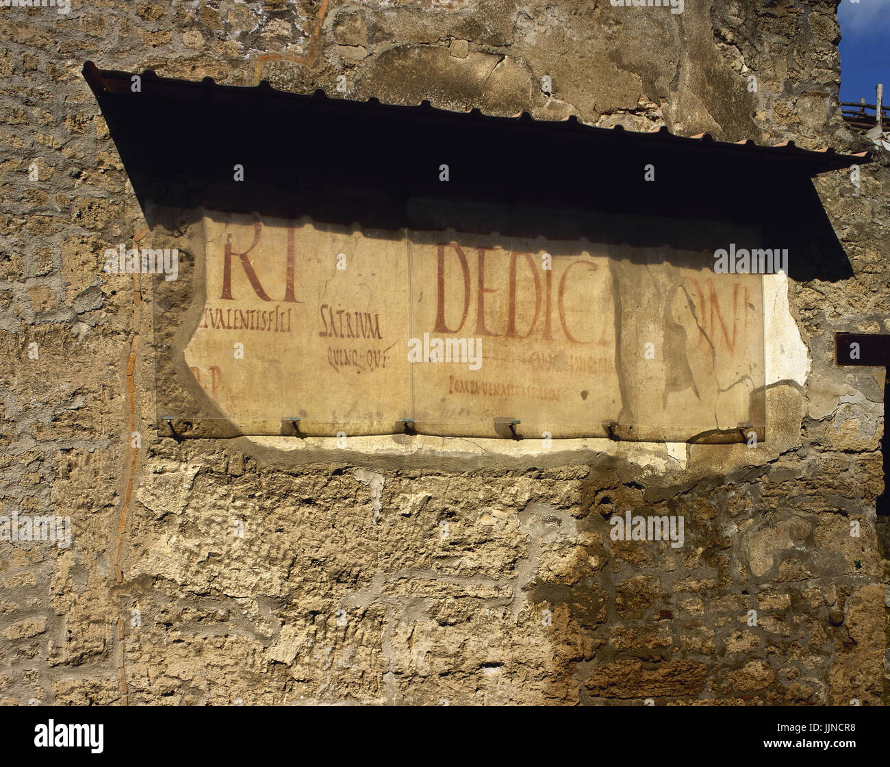 Roman Graffiti On The Wall Inscription Of Electoral Propaganda Advertisements For Taverns And Business Advertising Road Of Abundance Pompeii Italy
